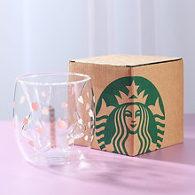 Chat griffe/patte tasse Double verre tasse à café dessin animé mignon chat lait jus tasse maison bureau café Tazas meilleur cadeau pour Festival