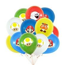 12 pçs/saco 12 polegada mario luigi bros látex balão fabricante jogo de ar globos chuveiro do bebê crianças decorações festa aniversário crianças brinquedos