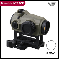 Vector Optics Maverick 1x22 SOP Red Dot Scope Hunting Optic Sight Dark Earth Rubber Cover 3 MOA IPX6 Tactical Scope QD Mount