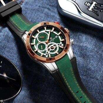 REWARD Men Quartz Watches Business Dress Waterproof Wristwatch Men Luxury silicone Sports watch men Gifts Montre homme 4