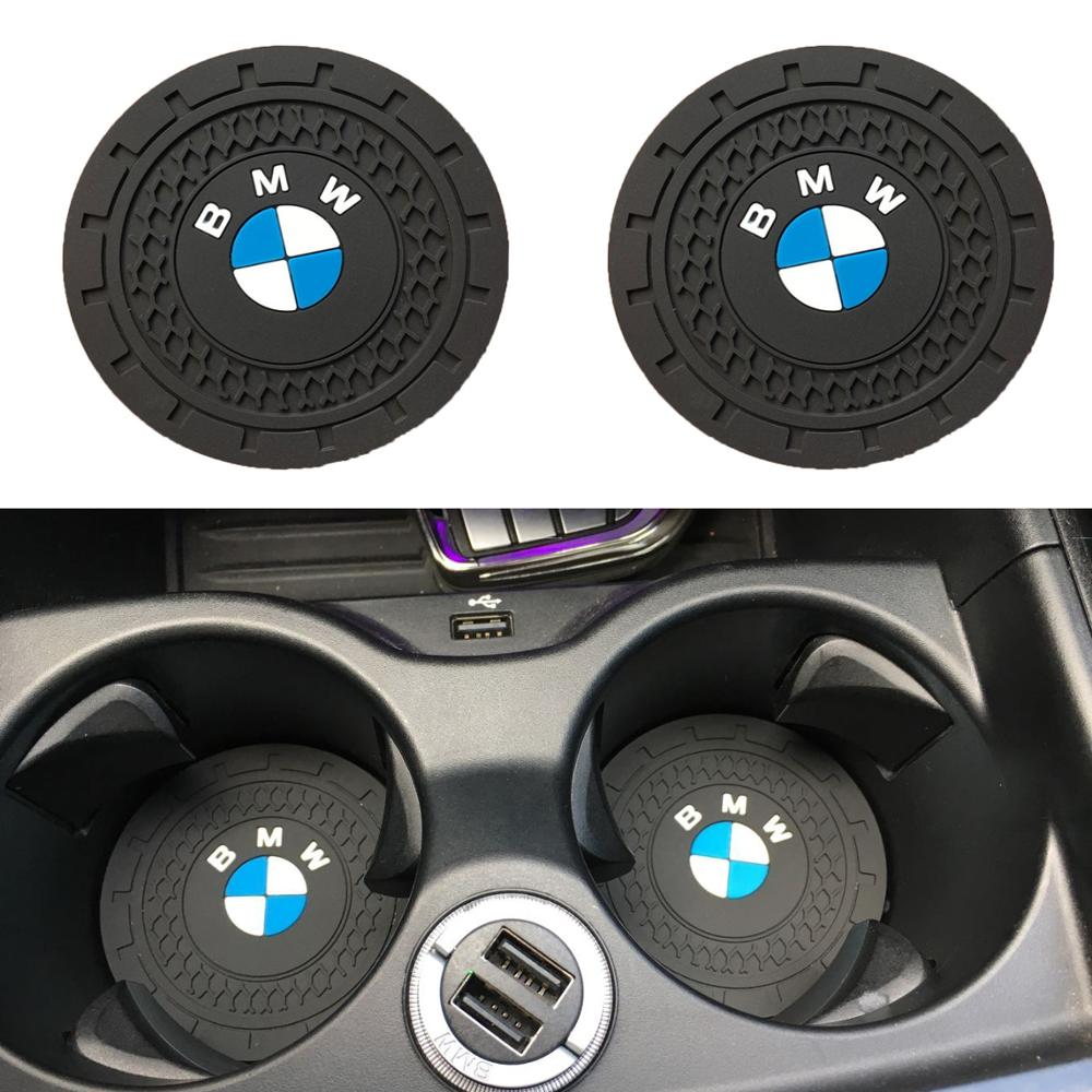 2pcs Car Accessories 7CM Silicone Car non-slip water coaster Mat pad For <font><b>BMW</b></font> M E39 E36 E60 E90 E3A4 E46 F30 F10 <font><b>F20</b></font> X1 X3 X5 E53 image