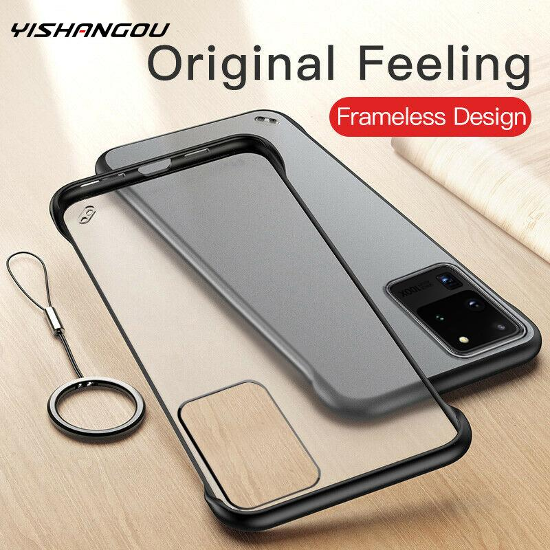 Ultra Thin Frameless Clear Hard <font><b>Ring</b></font> <font><b>Case</b></font> Cover For <font><b>Samsung</b></font> <font><b>Galaxy</b></font> Note 10 8 9 S8 S9 S10 Plus S10E A10 A30 A50 A60 <font><b>A70</b></font> A51 A71 image