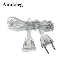 Cabo de extensão de conector de energia ac, cabo de extensão de 220v eu 110v us para cortina de baixa potência iluminação interior