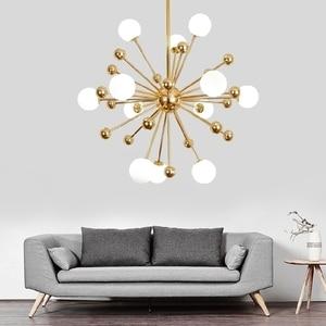 Image 3 - Ganeed Glass LED Chandelier Modern Ceiling Lamp Interior Decor Lighting for Living Dining Room Bedroom Kitchen Home Loft