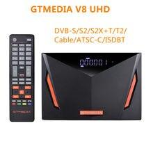 Спутниковый ресивер Gtmedia V8 UHD поддержка H.265 DDVB-S/S2/S2X + T/T2/кабель DVB-S2 Поддержка встроенный Wifi без приложения
