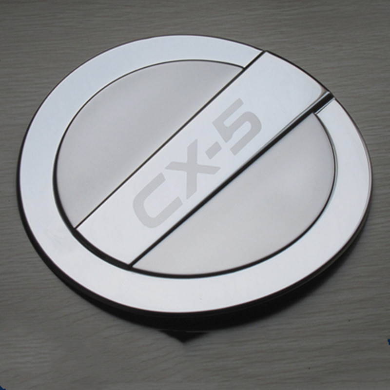 stainless steel Fuel Tank Cover Gas Tank Cover For <font><b>Mazda</b></font> cx-5 <font><b>cx5</b></font> 2013 2014 <font><b>2015</b></font> 2016 Car styling <font><b>accessories</b></font> image
