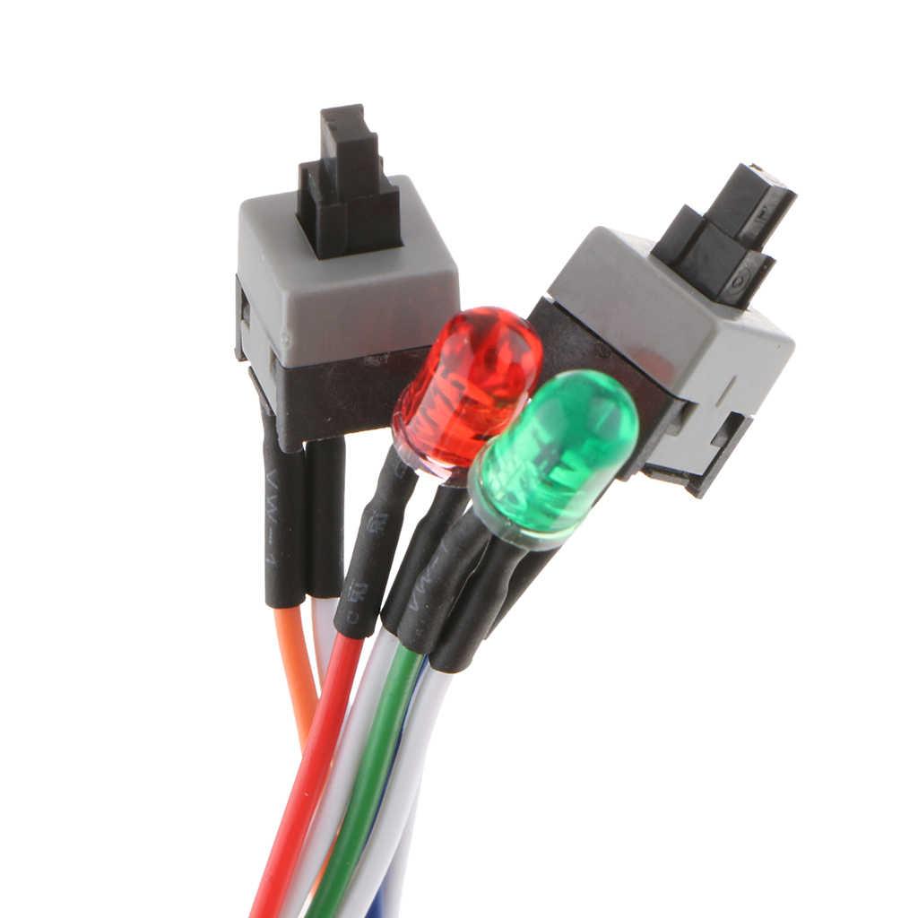 سطح المكتب ATX السلطة على إعادة 2x التبديل كابل مع HDD مصباح ليد التعدين ETH BTC