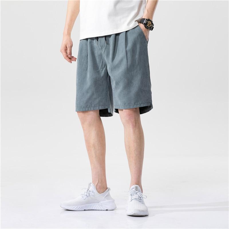 Streetwear 2020 New Solid Casual Shorts Men Fitness Summer Shorts Mens Knee Length Fashion Hip Hop Male Elastic Waist Joggers