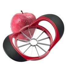 Apple slicer cortador atualizado, versão atualizada 12-blade grande apple corer, cortador de apple ultra-afiado de aço inoxidável, divisor para até 4 polegadas