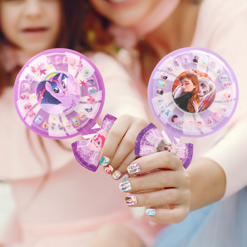 Frozen 2 Elsa Anna My Little Pony Nail Stickers Removable Disney Princess Sofia The First For Girls Nail Makeup Toy Sticker Set watson hannah little first stickers summer