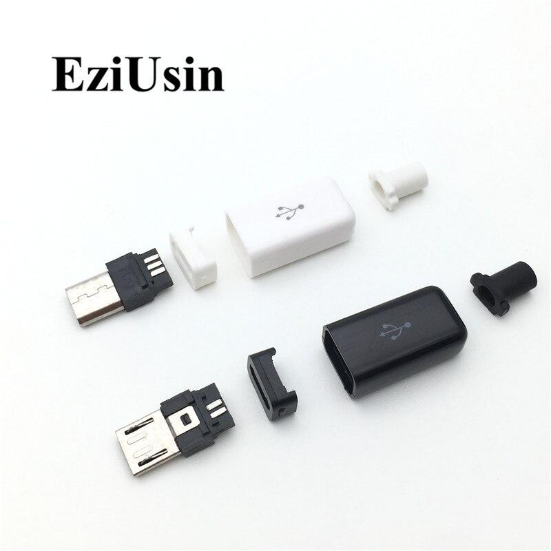 Enchufe USB-Cable USB para un enchufe con tapa x5 Piezas para Soldar