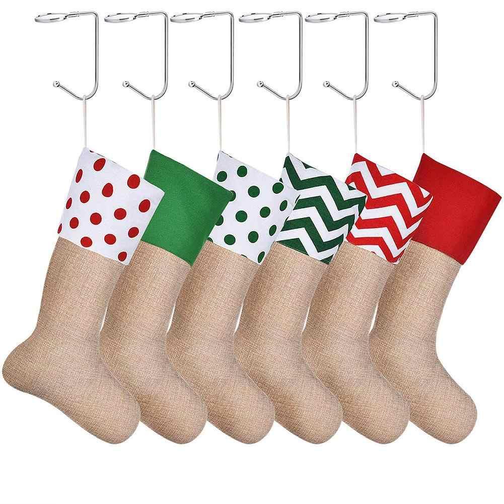 Antiderrapante lareira de metal estocagem cabide suporte de gancho de lareira decoração de festa de natal