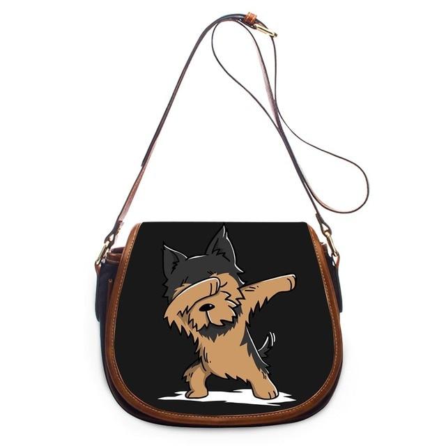 Dog Chihuahua Heart Paw Cross Body Shoulder Messenger Laptop Bag
