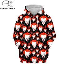 PLstar Cosmos horror movies IT CHAPTER 2 red devil Halloween 3d hoodies/shirt/Sweatshirt Winter autumn Harajuku streetwear-2