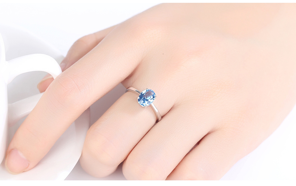 H9ca73620aa664d289a2d046ef922b878M CZCITY Natural Solitaire Sky Blue Oval Topaz Stone Sterling Silver Ring For Women Fashion S925 Fine Jewelry Finger Band Rings