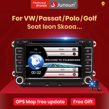 Junsun 2 din Car Radio reproductor Multimedia GPS para Volkswagen VW Passat B6 B7 Tiguan Golf Touran Polo Jetta asiento Skoda 2din Android 10,0 DVD