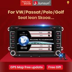 Автомагнитола Junsun 2 din мультимедийный плеер GPS для Volkswagen VW Passat B7 B6 Golf Touran Polo сиденье Jetta Skoda Android 10,0 DVD