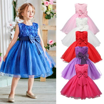 Red Christmas Dress Santa Clus Pattern New Year Costume Kids Dresses For Girls Xmas Evening Party Ball Gown Clothes 4-10 Years 1