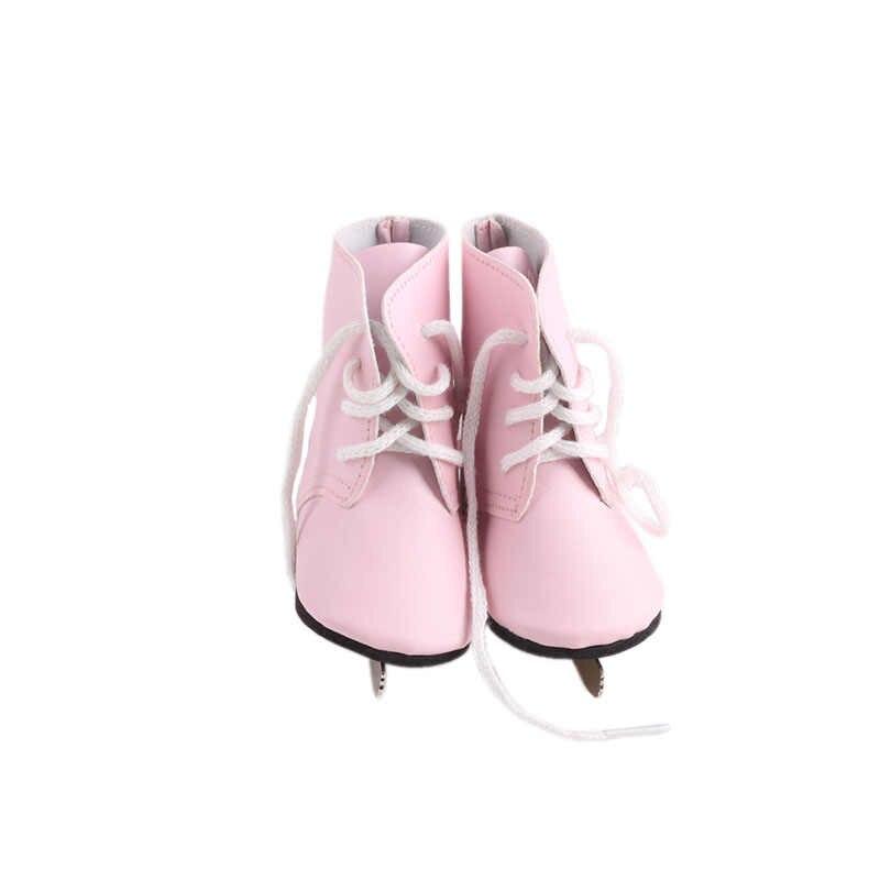 Ropa de muñeca Serie Rosa vestido de Elsa Dsiney zapatos de lona para muñeca recién nacida de 18 pulgadas americana y 43CM Reborn Baby, muñeca rusa para niña