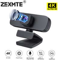 4K Webcam 2K Web Kamera Für PC Computer Volle HD 1080P Mini USB Cam Mit Mikrofon Streaming video Aufruf Konferenz Arbeit Live
