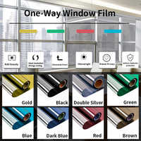 SUNICE Mirror Window Film Solar Tint Reflective One way Mirror sun block Glass Sticker home window tint 50cmX300cm(20inchX9.8ft)