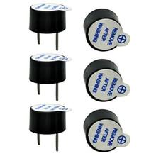 10 adet/takım 5V aktif Buzzer kiti manyetik uzun sürekli bip sesi Alarm zil 12mm Mini aktif Piezo Buzzers fit Arduino Diy için