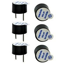 10 pz/set 5V Attivo Buzzer kit Magnetico Lungo Continuo Beep Tono di Allarme Ringer 12 millimetri Mini Attivo Piezo Cicalini misura Per Arduino Fai Da Te