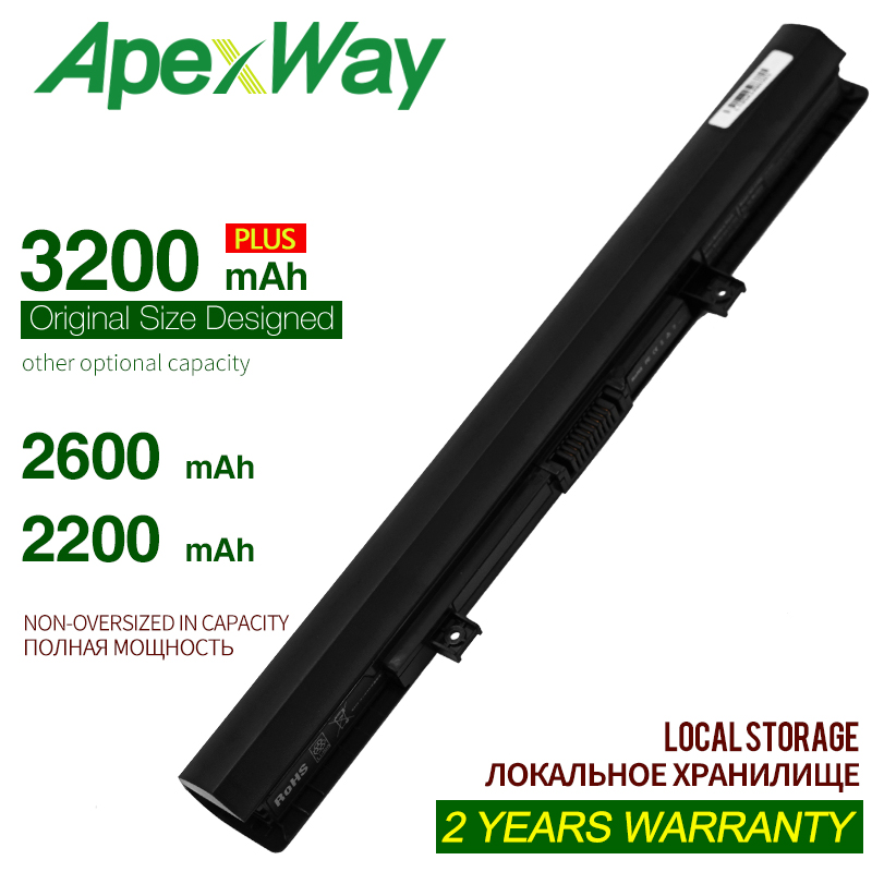 Apexway 14.4V Laptop <font><b>battery</b></font> for <font><b>Toshiba</b></font> PA5184U-1BRS PA5185U-1BRS pa5185u for <font><b>Satellite</b></font> <font><b>C55</b></font> C55T L55 L55D L55T Series image
