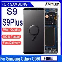 Amoled original para samsung galaxy s9 g960 s9plus g965 lcd digitador da tela de toque para samsung galaxy g960f g965f lcd