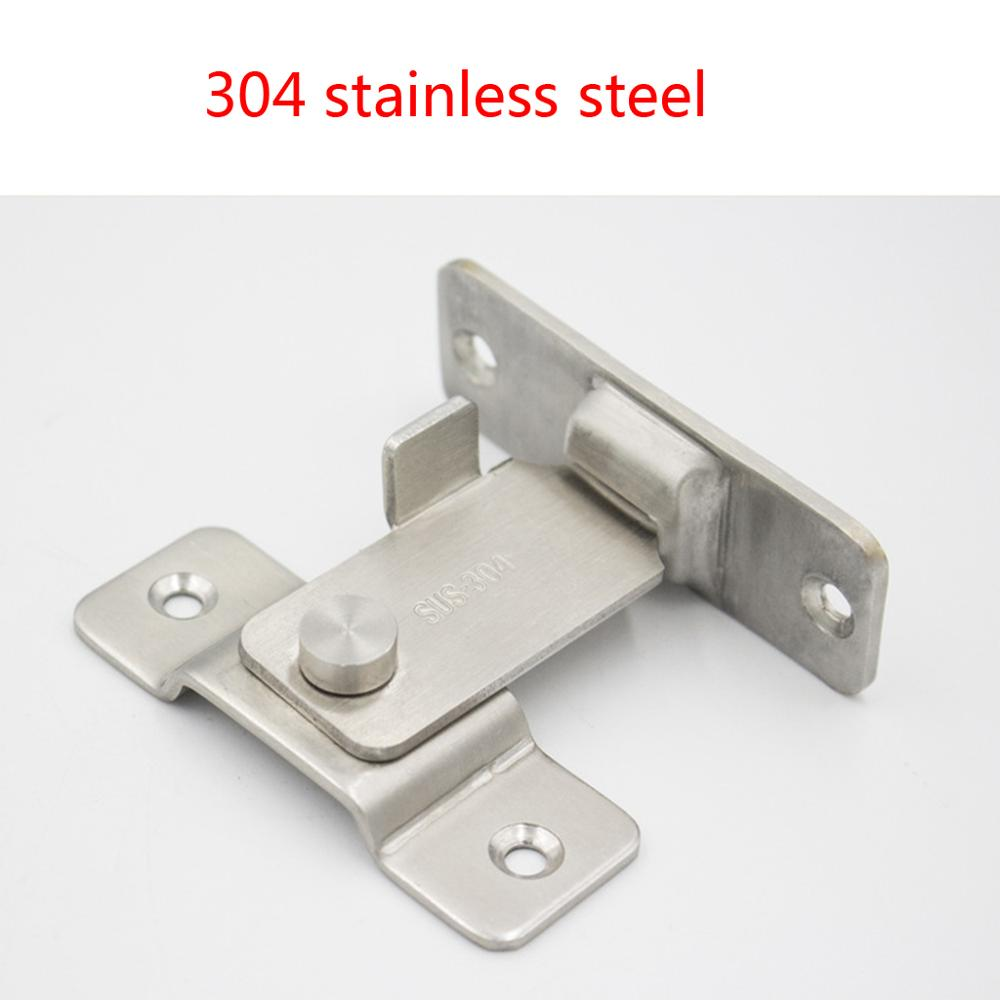 Stainless Steel 90 Degree Right Angle Buckle Hook Lock Bolt For Sliding Door Latch Bar Window Home Furniture Hardware Supplies