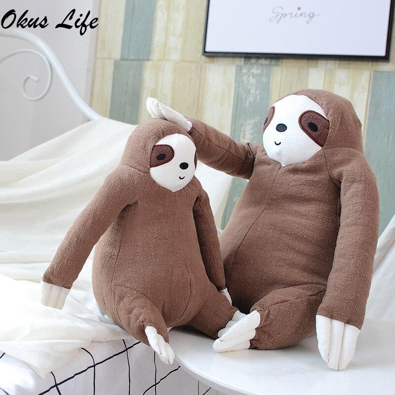 Soft Simulation Animals Cushion Cute Stuffed Sloth Toy Plush Sloths Soft Toy Plushie Doll Pillow Kids Birthday Gift Home Decor