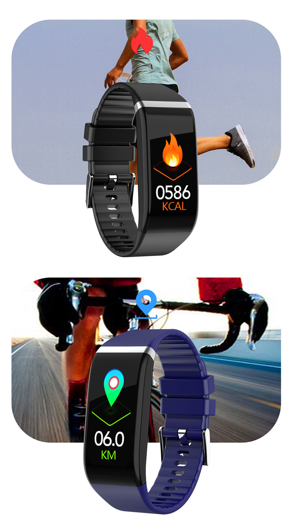 H9ca7ca62f2884a488b616827b16eb4c7r Smart Band Blood Pressure 1.14'' Screen Fitness Tracker Watch Heart Rate Fitness Bracelet Waterproof Music Control For Men Women