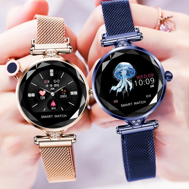 2019 H2 Smart Watch Women Fitness Tracker Smart Bracelet Waterproof Heart Rate Monitoring Sport Bluetooth For Android IOS PK Q8|Digital Watches| |  - title=