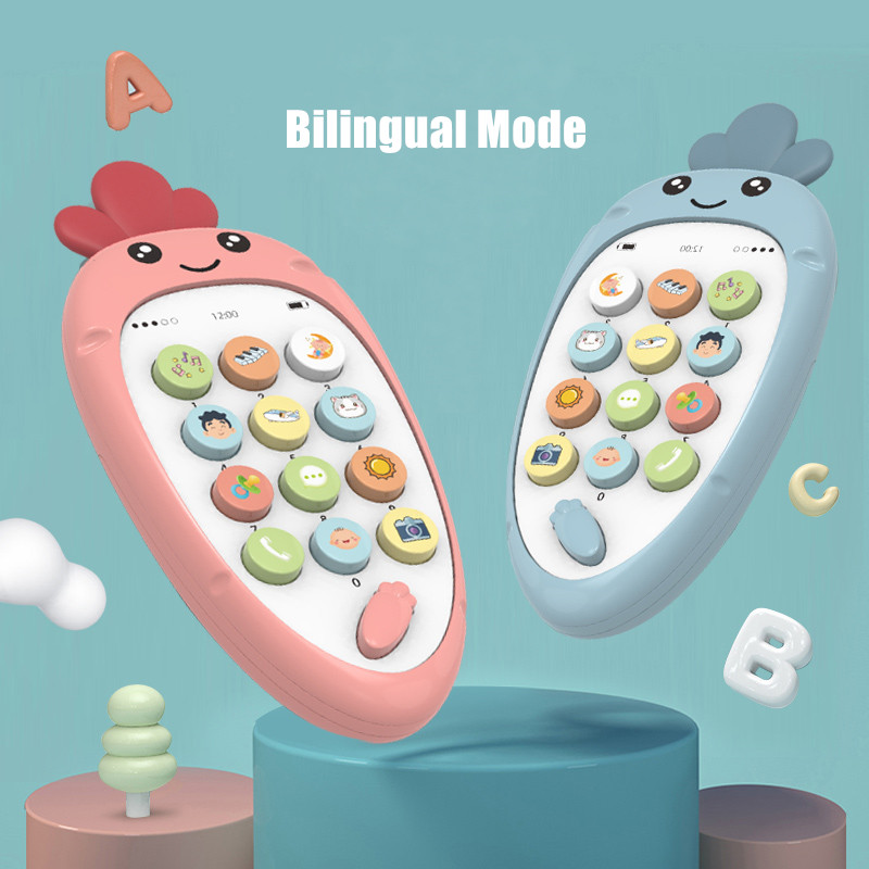 Baby Phone Toys For Newborns 0-12 Months Toy Mobile Phone For Kids Telephone Toy For Infant Early Educational TV Remote Control
