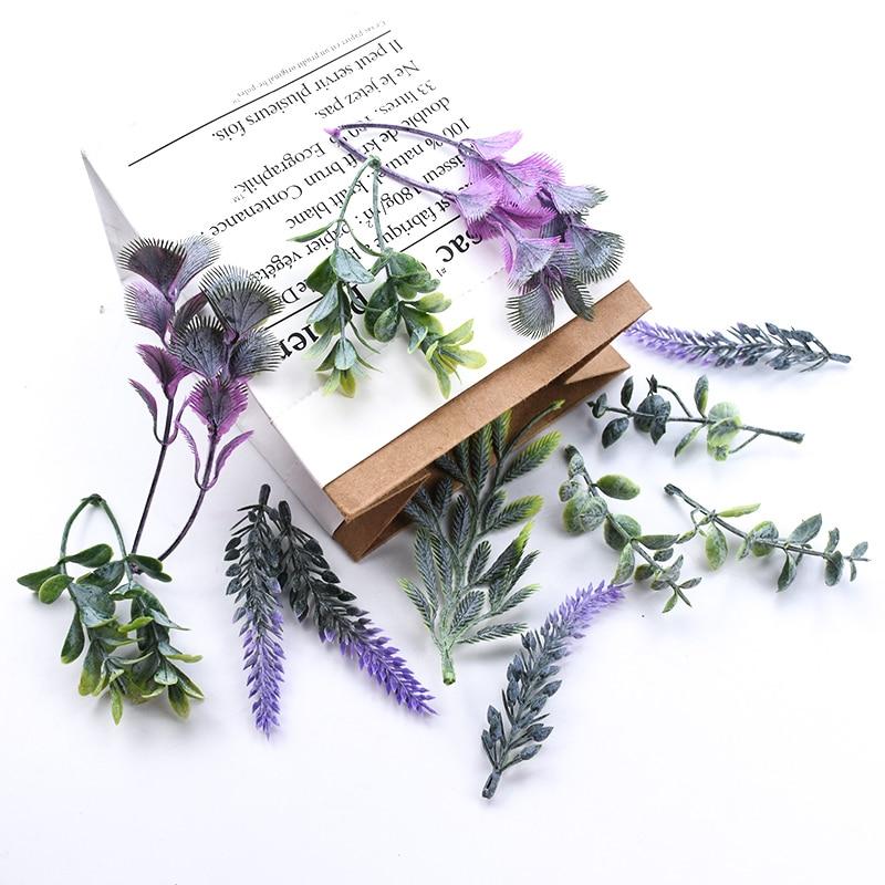30 шт растения искусственные, свадебные декоративные цветы венки diy Подарочная коробка Рождественские украшения для дома брошь для невесты ...
