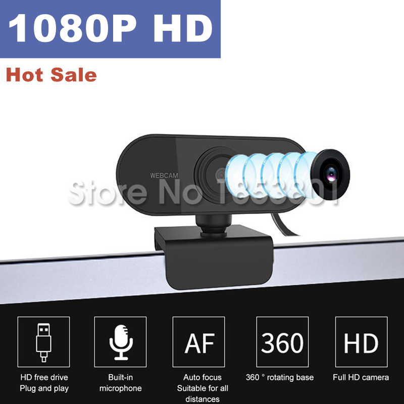 2020 Hot Sale Webcam Full HD 1080P Web Camera With Microphone For Computer Laptop Video Recording Online Webcams USB Autofocus