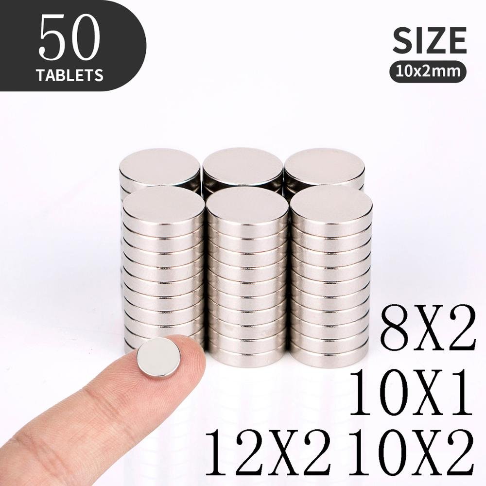 10 20 50PCS/Lot 8x2 10x1 10x2 12x2mm Magnet Hot Round Magnet Strong magnets Rare Earth Neodymium Magnet