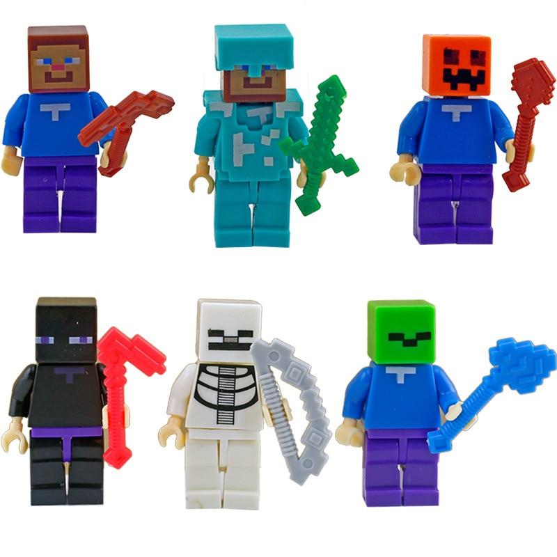 Minecraft-bloques de animales compatibles con Leigong pixel, juguete de bloques de construcción, regalo de Navidad para niños