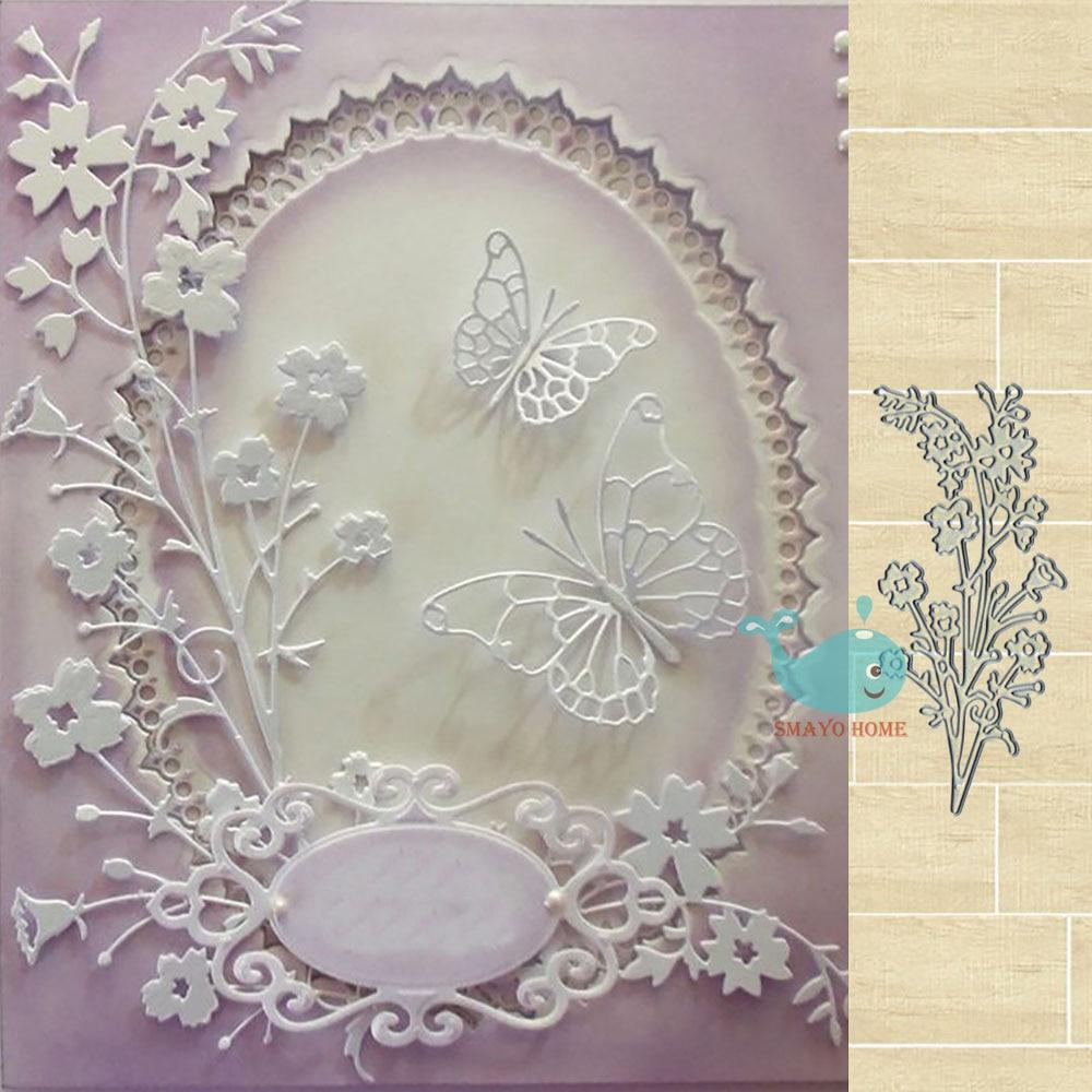 Leaves Flower Metal Cutting Dies Frame For DIY Scrapbooking Card Album Embossing Crafts Die Cut New