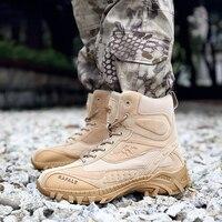 Homens Tênis para caminhada Deserto Militar Botas Táticas DELTA Do Exército Sapatos Ankle Boot Sapatos de Trabalho Respirável Camping Esporte Caça Escalada
