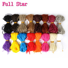 Полная звезда Zizi коробка косички Серый Розовый Фиолетовый крючком волосы 48 прядей/упаковка 50 г крючком цветные синтетические накладные волосы