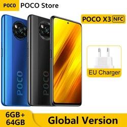 Глобальная версия Xiaomi POCO X3 NFC 6 ГБ оперативной памяти, 64 Гб встроенной памяти, мобильный телефон Snapdragon 732G 64-мегапиксельная четырехъядерная ка...