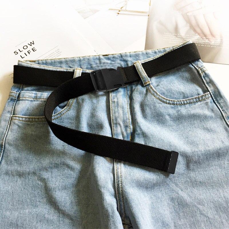 JIFANPAUL женский Мягкий тканевый модный ремень армейский тактический для тренировок на открытом воздухе, путешествий регулируемый отдыха лучший популярный - Цвет: ipo01 black