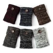 1 Pair Leg Warmers Women Short Button Thermal Knitted Boot Cuffs Yoga Socks Cover Shoe Boot Socks Leg Warmers(China)