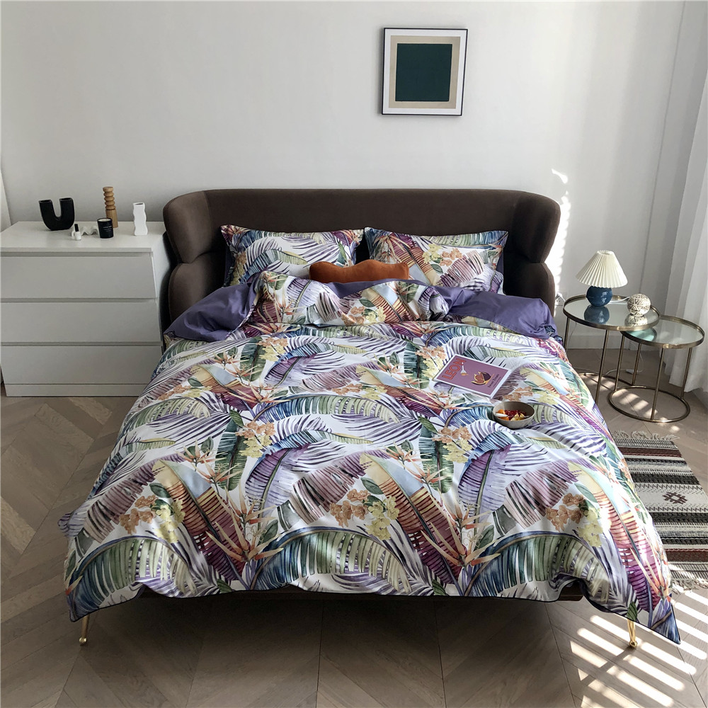 Copripiumino Matrimoniale King Size.Queen King Size Bedding Set 4 Piece Quilt Covers Sets Egyptian Cotton Bed Linen Copripiumino Matrimoniale Leaves Funda Nordica Bedding Sets Aliexpress