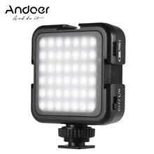 Andoer 42LED Siêu Sáng Đèn LED Video Đèn Nhiệt Độ Màu 6000K Chụp Ảnh Ánh Sáng Cho Canon Nikon Sony Kỹ Thuật Số Máy Ảnh DSLR