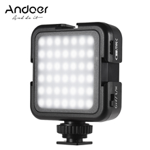Andoer 42LED Ultra בהיר LED וידאו אורות 6000K טמפרטורת צבע אור צילום עבור Canon Nikon Sony דיגיטלי DSLR מצלמות