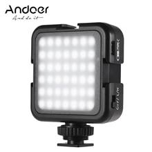 Andoer 42LED Ultra parlak LED Video ışıkları 6000K renk sıcaklığı fotoğraflama işık Canon Nikon Sony DSLR kameralar