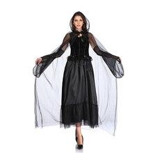 Страшные костюмы для женщин костюм вампира на Хеллоуин Призрак Одежда невесты день Святого Фантазия платье Готическая ведьма смерти костюм принцессы