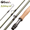 Obei Emerald  Fly Fishing Rod 8/9/10FT Light Weight Travel  Fly Rod Carbon Fiber Rod Medium Fast  4/5/6/7#Action River Fishing